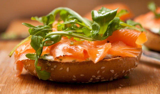 Our smoked salmon is carefully hand sliced for you