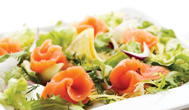 Our salmon is perfect in a simple salad with a squeeze of lemon