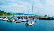 At the marina in the historic village of Glenarm, County Antrim.
